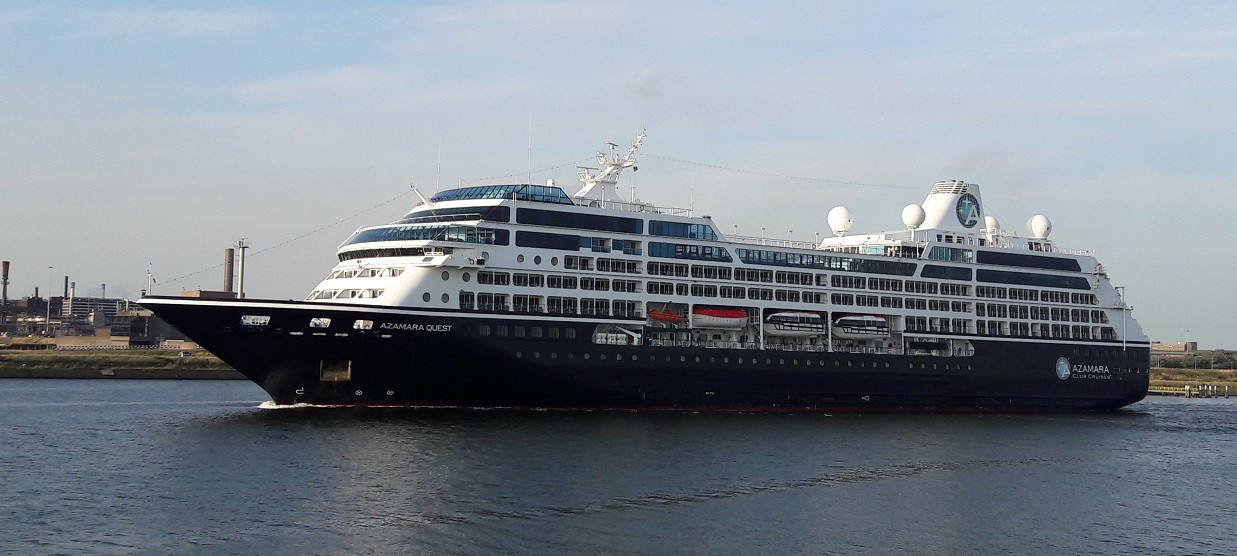 Azamara Quest in IJmuiden 24-07-2016